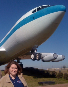 Heather with a retired Weightless Wonder at Ellington Field