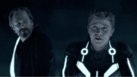 kevin and sam flynn in tron legacy