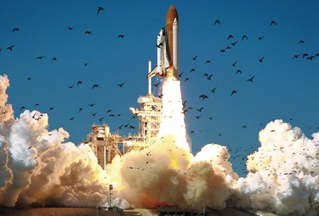 Launch of the 51-L mission of the space shuttle Challenger.