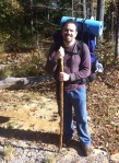 david hitt with hiking stick