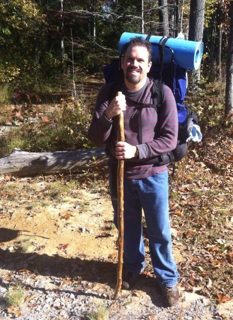 david hitt with hiking stick