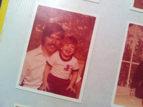 Me and my dad, many years ago