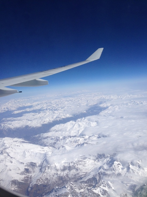 Picture Rebecca took flying over the Alps on Monday.