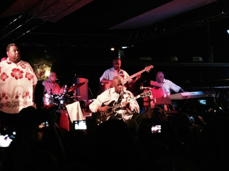 B.B. King at his final homecoming concert in Indianola, Mississippi, in 2015