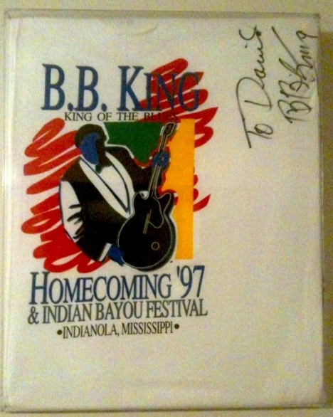 T-shirt I designed for the 1997 homecoming festival, signed by the man himself.