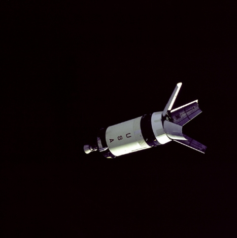 Saturn V S-IVB Stage in space