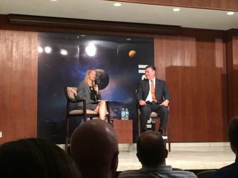 NASA Deputy Administrator Dava Newman with Marshall Center Direct Patrick Scheuermann